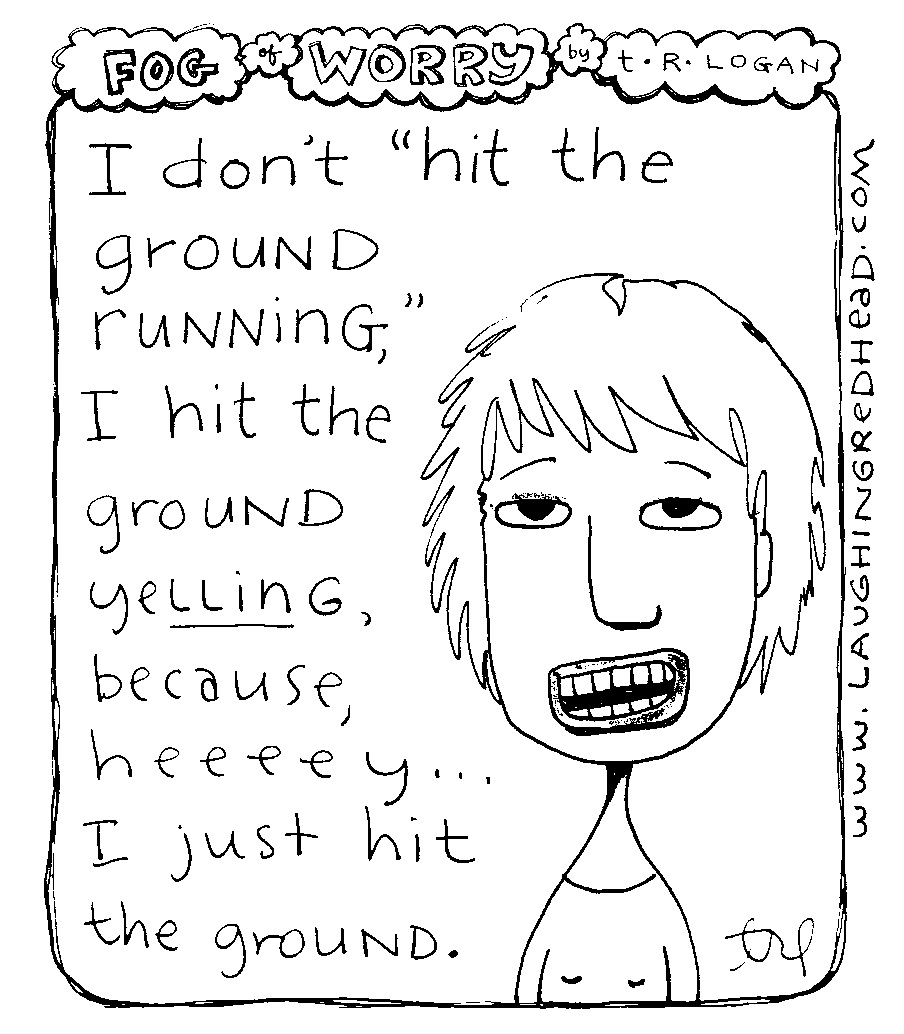 hit the ground