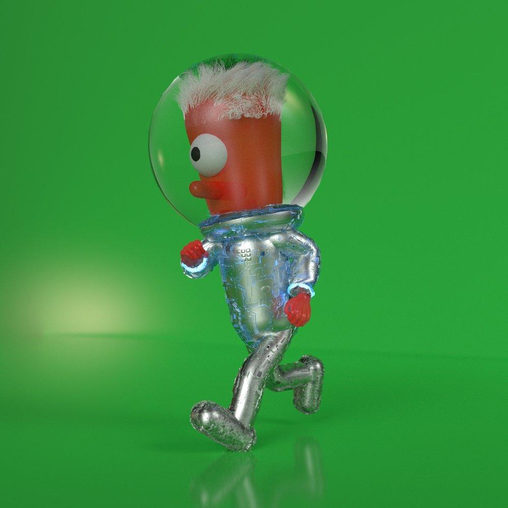 Goobly The Astronaut (Cinema 4D, Octane)