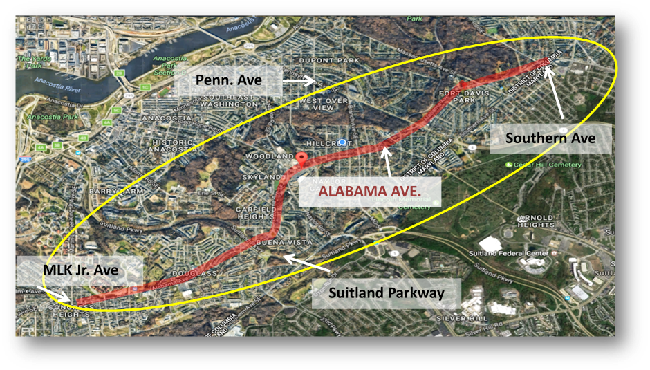 Alabama Avenue Project Study Area