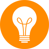 Lightbulb icon representing conceptualization and brainstorming.