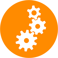 Gears icon representing video preproduction.