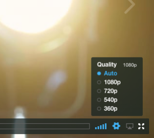 Options for playback on this video max at 1080p.