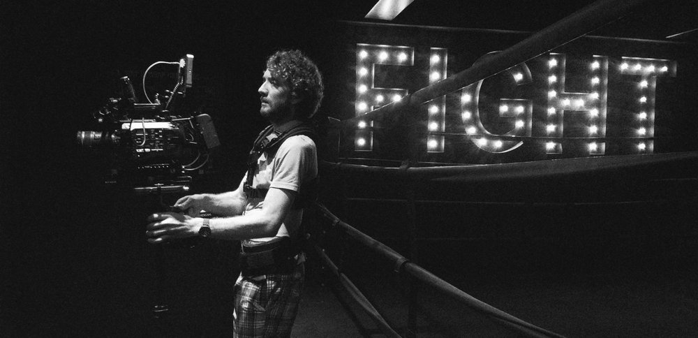 BTS: Steadicam was used heavily to capture b-roll. Steadicam operator, Sam Ott, is pictured here flying a SonyFS7 system.