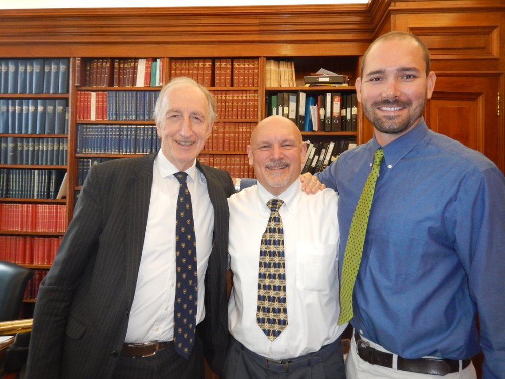 Royal Court Lord Gillen with Michael and Brent
