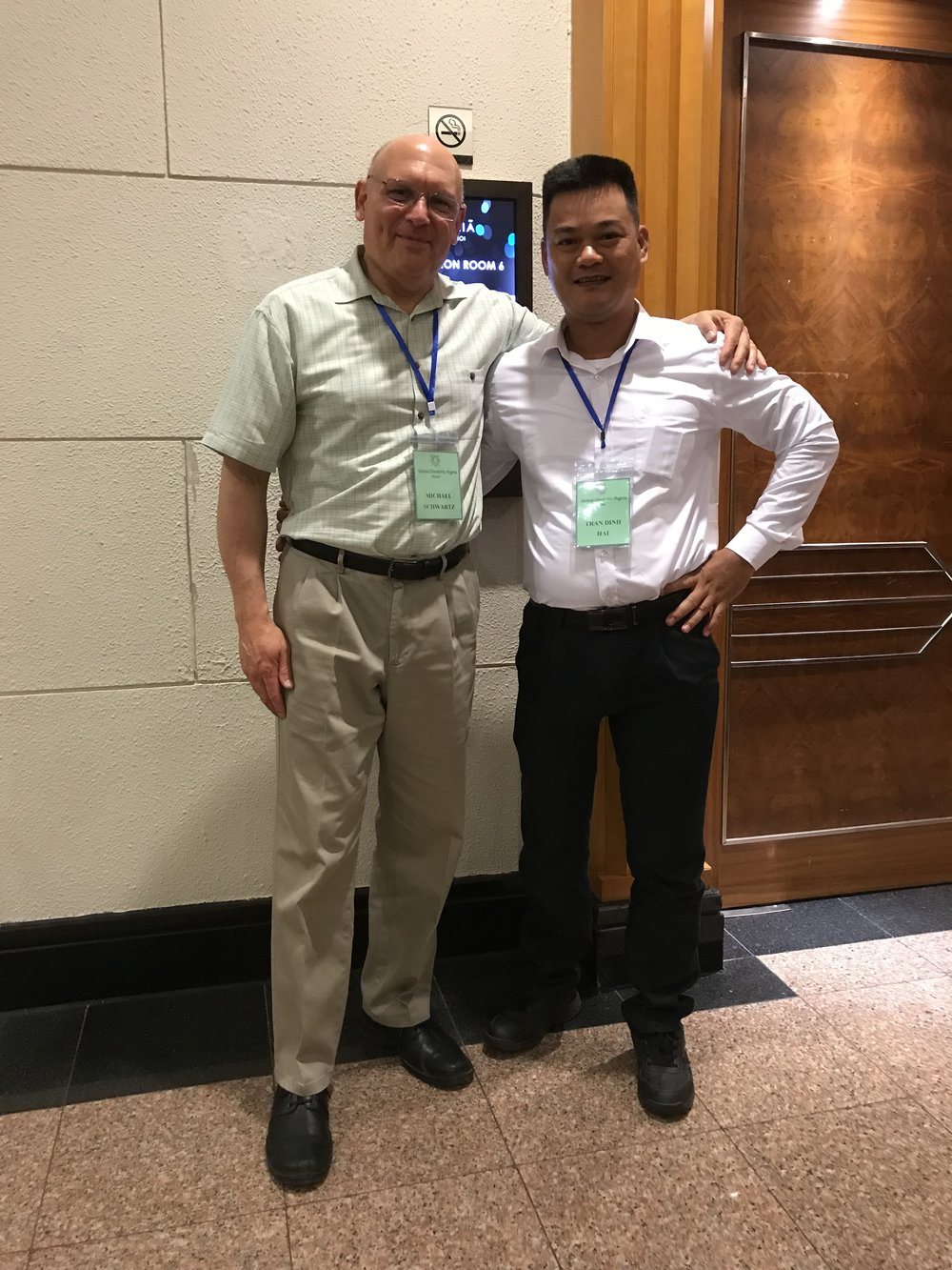 With Hai, a conference participant