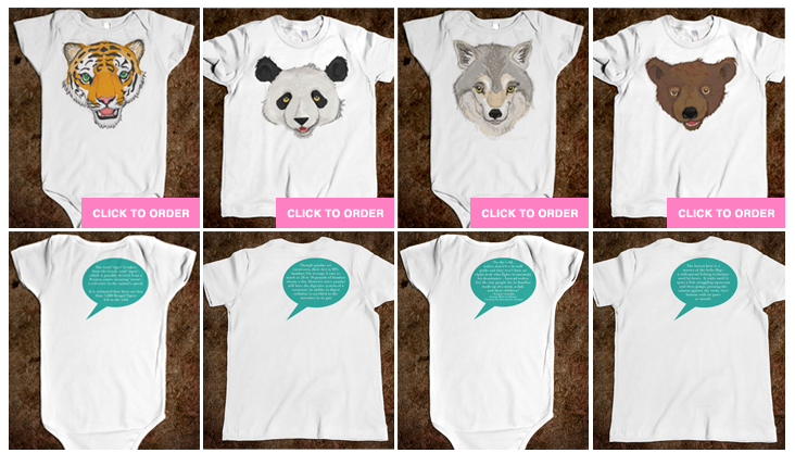 tees, onesies for kids from nerdbaby by Gaia Cornwall