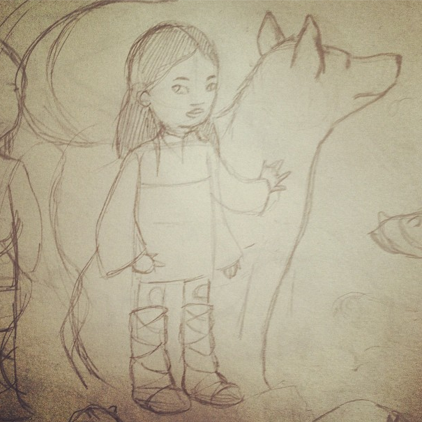 middle grade wolf and girl