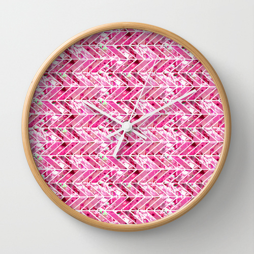 wall clock, gaia cornwall, society6