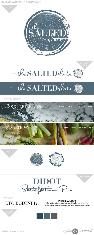 branding salted slate logo Gaia Cornwall Design