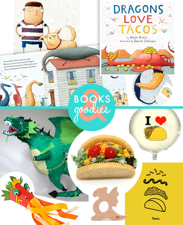 Dragons love tacos books and goodies