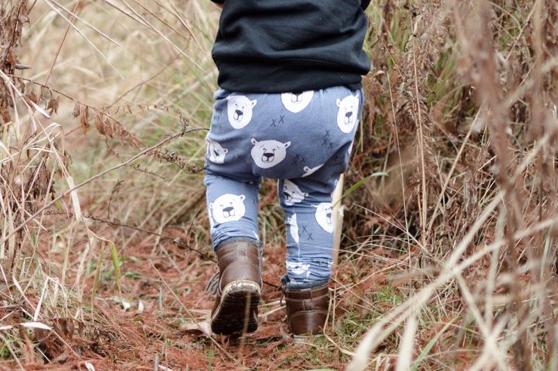 Toddler leggings  pants handmade by  BittyB&Co  using the   Polar Bear   design.