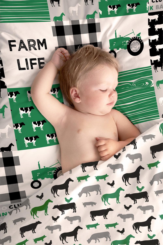 Patchwork / Farm Animals  - Farm designs available on Spoonflower.com