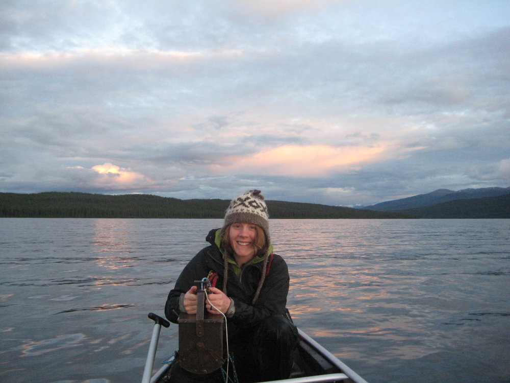 Collecting sediment in the Yukon