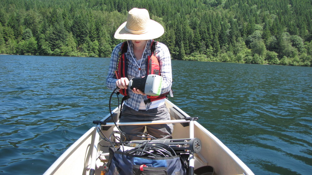 Lake sampling in Beautiful British Columbia