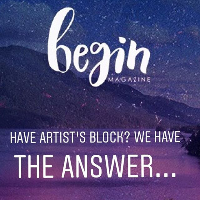 Creativity can be a bumpy process, so it's totally normal to feel uninspired and blocked once in a while. Instead of getting stuck, learn how to overcome your artists block with @begin_magazine .. for more info check the link in the bio 👆🏼👆🏽👆🏾