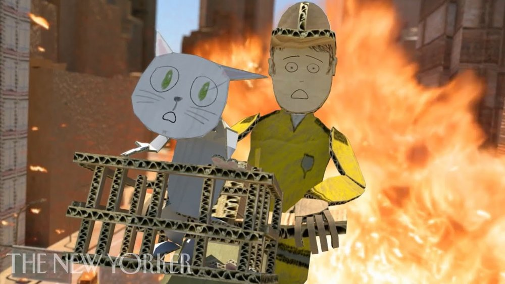 FIRE IN CARDBOARD CITY |  Phil Brough