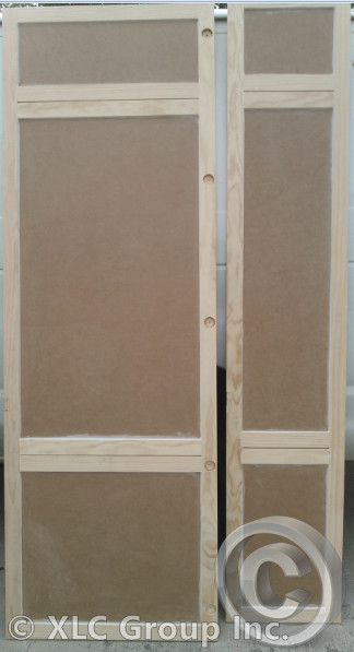 Custom Doors for Refrigerator and Linen Closet
