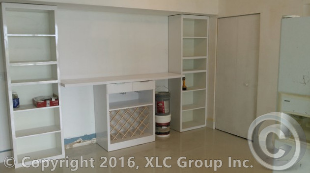 Custom Book Shelves & Mobile Mini-Bar