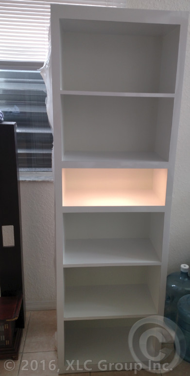 Custom Built-in LED Shelf