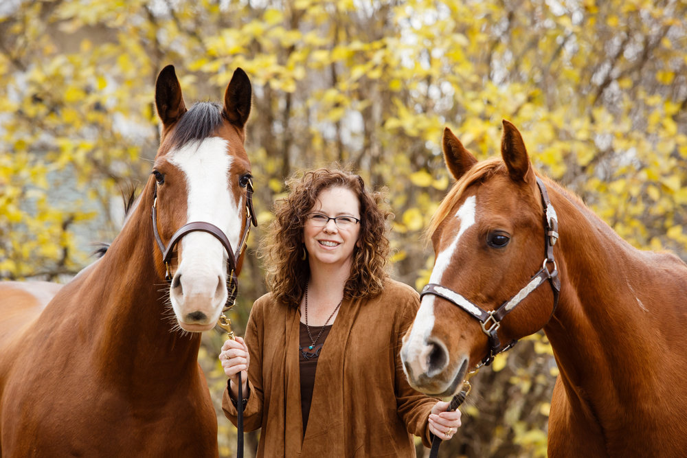 Shelley Paulson on her Minnesota farm.