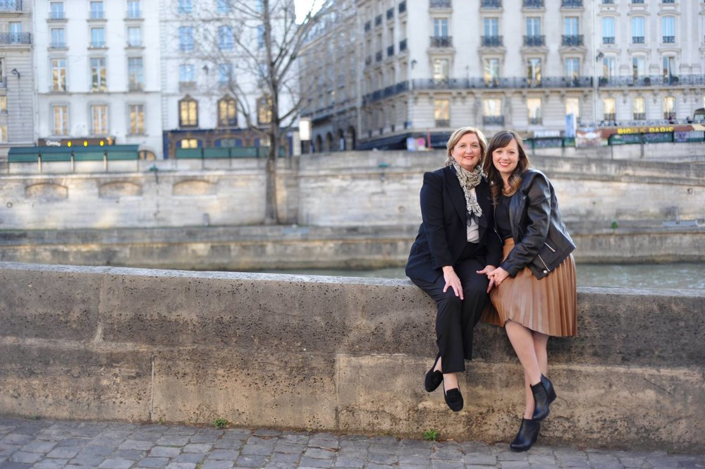 Kate and her mom, Kathy, in Paris