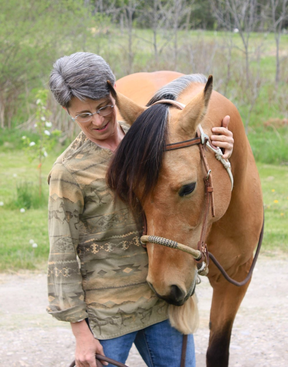 Jean Abernathy and her horse, Willow.