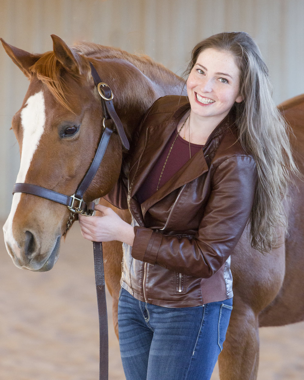 Rachel Florman, with her horse Herbie.   photo by Abigail Boatwright