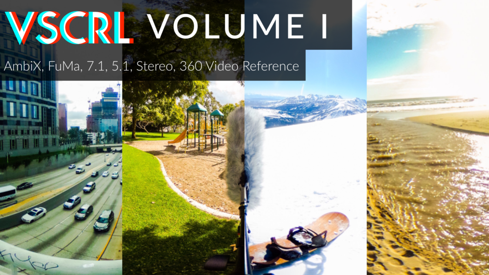 vscrl volume I includes:   the beach  The Snow  the road  The park   Huge value $275!