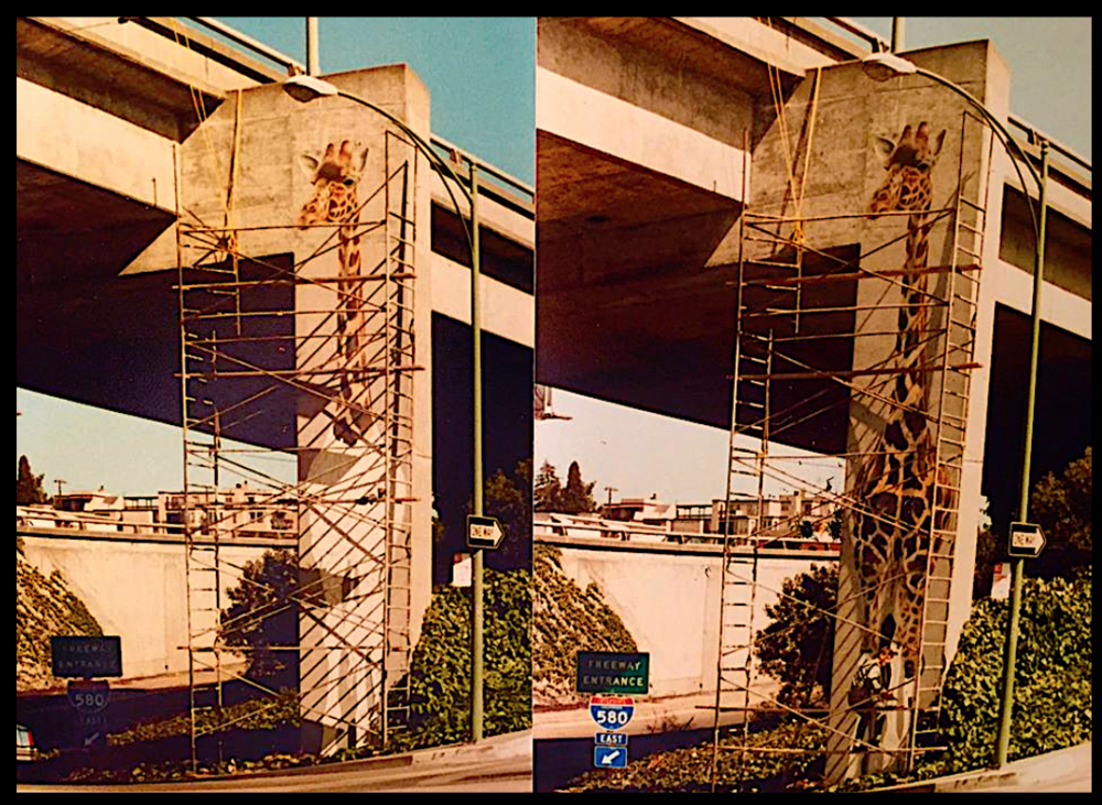 Eastbound onramp to 580 freeway at Oakland Avenue 1984