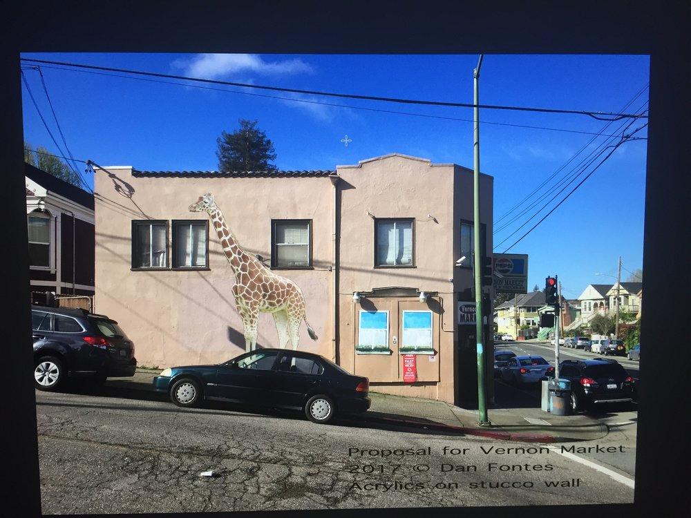 Vernon Market Giraffe