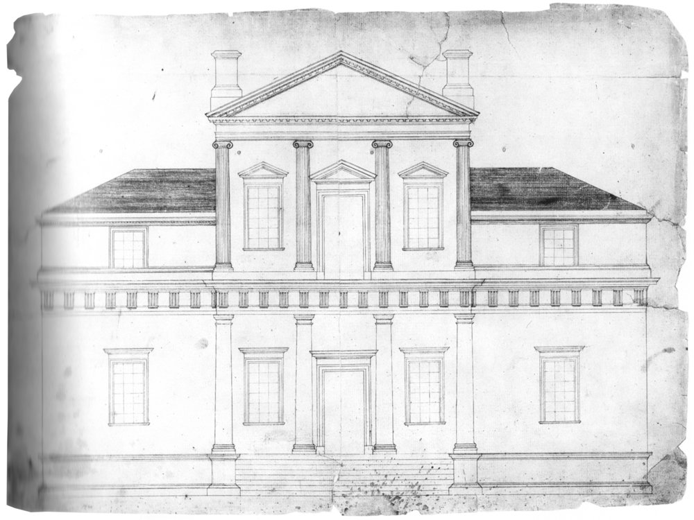 Original architectural drawing of Villa Cornaro by Late President Thomas Jefferson