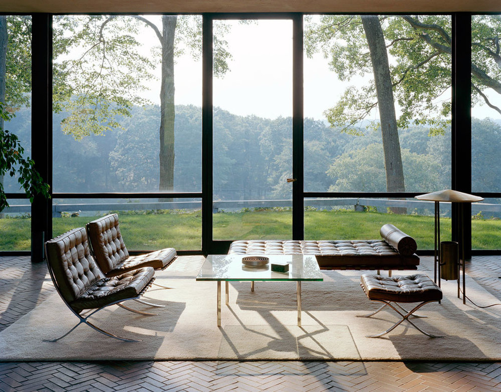 The Glass House, Philip Johnson, Interior