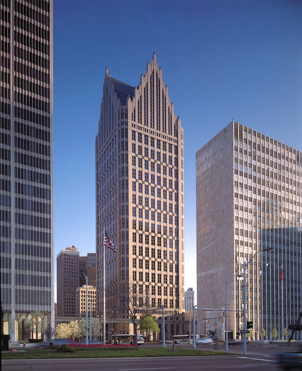 One Detroit Center,  John Burgee & Philip Johnson
