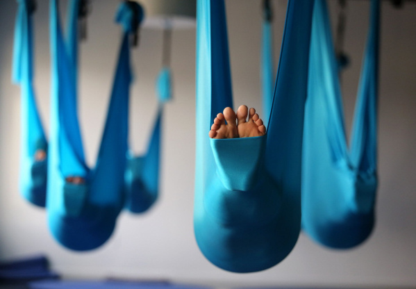 in aerial yoga a hammock is used as a prop similar to a block or a strap  using a hammock allows you to explore in your yoga practice  aerial yoga  u2014 slo yoga center  rh   sloyogacenter org