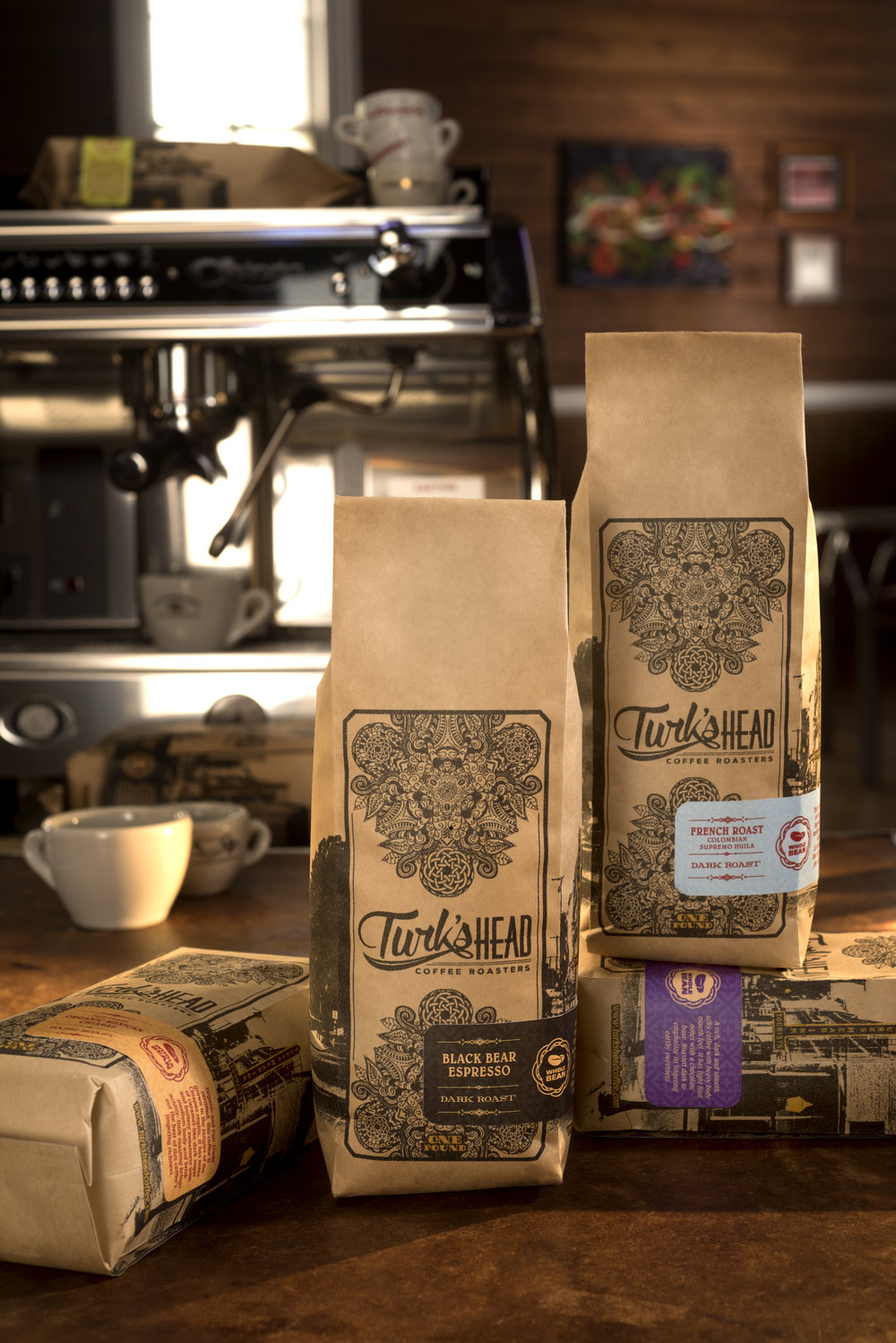 Here is a list of the establishments that you will be able to purchase the new line of Turk's Head Coffee. -  GroundCountry Bagel (Parkway Center) - West Chester, PADiFabio's Market - Media, PAE & A Candies - Intercourse, PAHighland Orchards - West Chester, PANorthbrook Marketplace - West Chester, PARoots Café - West Chester, PAShoo Mama's Shoppe - Glenmoore, PAThom's Jerky - Exton, PATredici - Wayne, PAYori's Bakery - West Chester, PAZook's Roadside Stand - Gordonville, PAWhole BeanBagel Bistro - West Chester, PACountry Bagel (Parkway Center) - West Chester, PAFenn's - West Chester, PAHarvest Market - Hockessin, DEJanssen's Market - Greenville, DEJava's Brewin - Limerick, PAKimberton Whole Foods - Multiple locationsTredici - Wayne, PATriple Fresh Market - East Fallowfield, PA