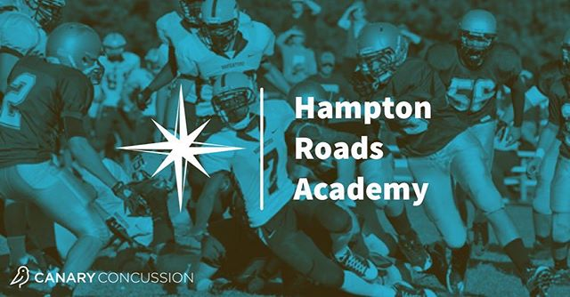 Welcome @hamptonroadsacademy to the Canary Family! Thank you for making your student athlete's well-being a priority! #hsfootball #hssports #fridaynightlights #concussionawareness #headsup #concussion #concussionmanagement