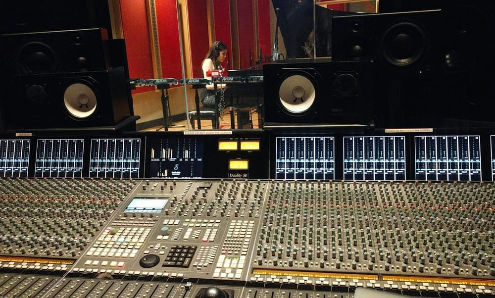 This is a picture of me at the Berklee studio 1 recording the piano part for an original song