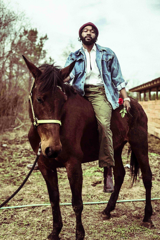 Denim Jacket by Jordache, Shirt by GAP, Boots by Ralph Lauren