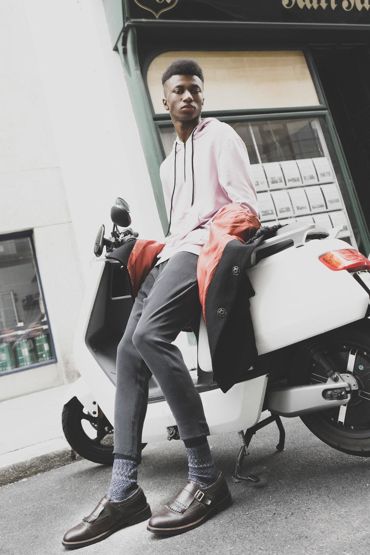 Sweatshirt & Trousers: Enaut.co  Socks: Missoni; Shoes: Belsire