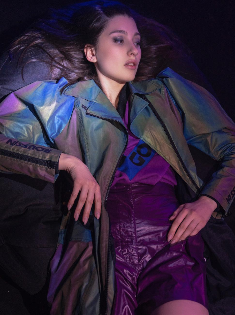 Trench coat- ROUSSIN Design Studio, Pullover- ROUSSIN Design Studio, Shorts- Savchenko