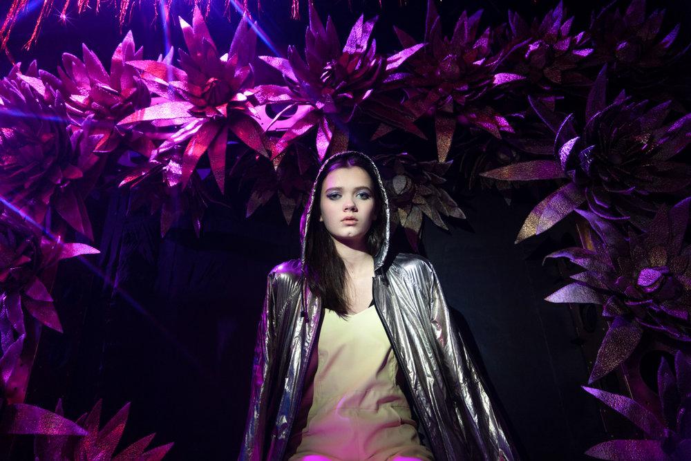 Jacket- Zara, Top- stylist property, Overalls- Veronika Mizgir