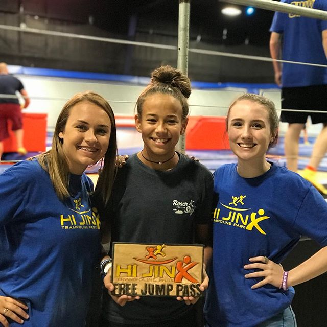 Congrats to Alex Noe for being our July jumper! She has been selected to jump for free the entire month. Come jump at HIJINX for your chance to win!