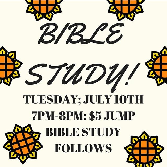 BIBLE STUDY COUNTDOWN!!!TONIGHT AT 7PM. So hurry up and get here!