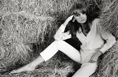 Terry O'Neil, Jean Shrimpton Laying in Hay, 1960 Gelatin silver print 3 of 50 20 x 24 inches $800
