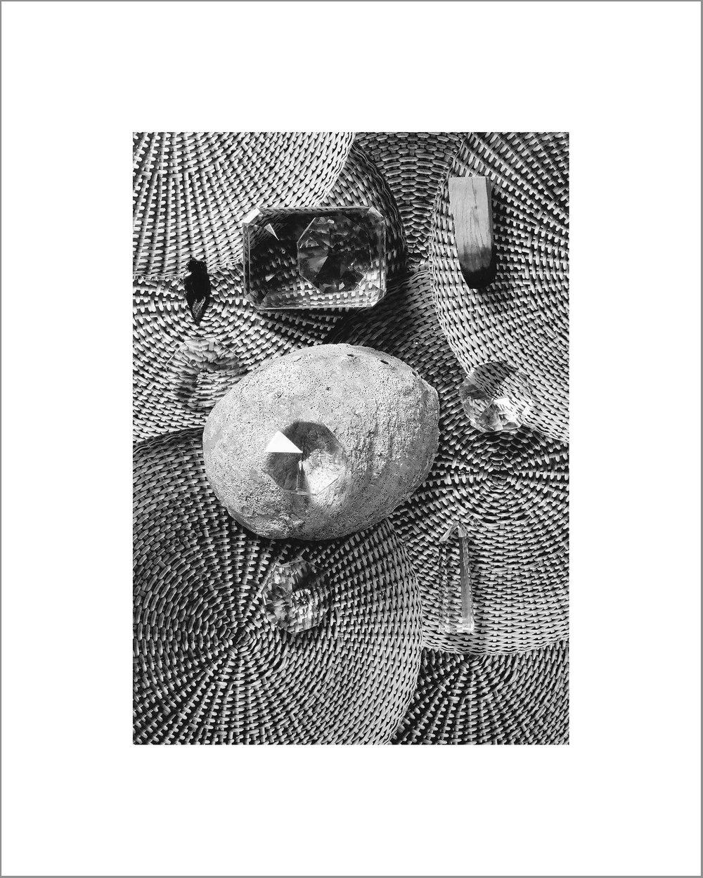 Fay Ray,Palo Santa, Paper Wieght, Arrowhead, Abalone, Quartz, 2016 Archival inkjet print 34 of 100 8 x 10 inches $300