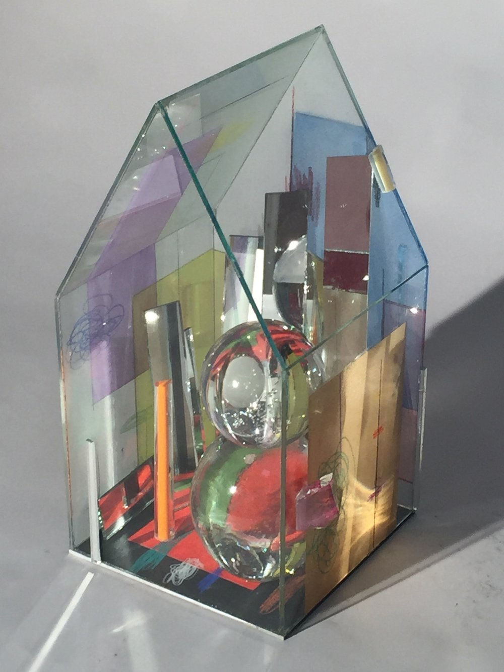 Therman Statom, Dos Temporados, 2017 Glass and mixed media 16 x 8 inches $3100
