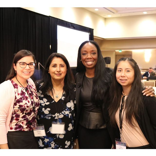 Venice Family Clinic staff were honored to be present to hear Dr. Nadine Burke Harris, California's first-ever Surgeon General, validate the importance of community clinics at the CCALAC #2019HCSymposium.  Also pictured: Dr. Michelle Aguilar, Dr. Margarita Loeza, Lauren Garcia. ⠀ #nadineburkeharris #venicefamilyclinic #womeninmedicine #healthequity #healthcareforall #clinic