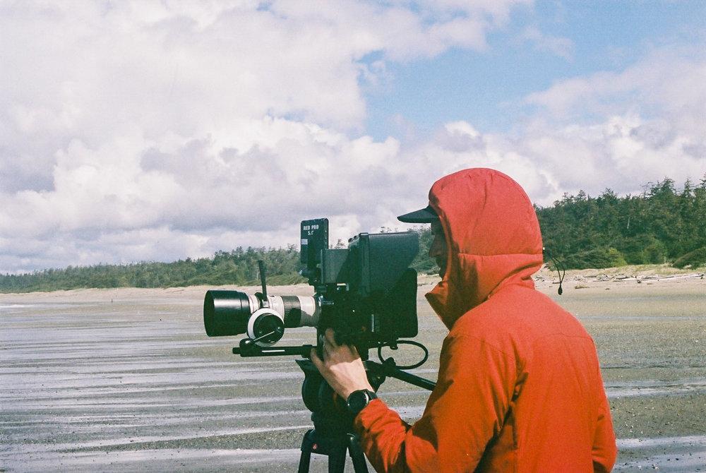 gordie filming tofino postmark shaper