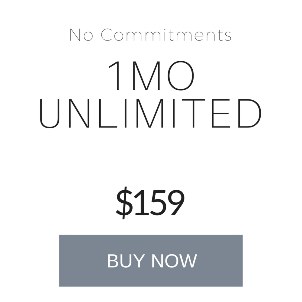 1 month unlimited - Expires after 1 month.Not valid for workshops. VIP membership benefits not included