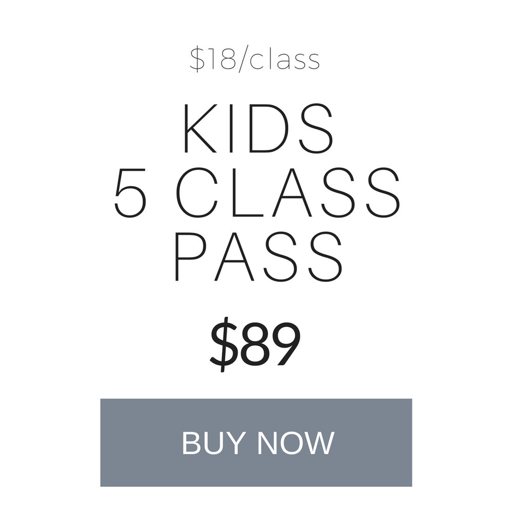 Kids 5 class pass  - valid for Kids Flight Workshops onlyvalid for 6 months